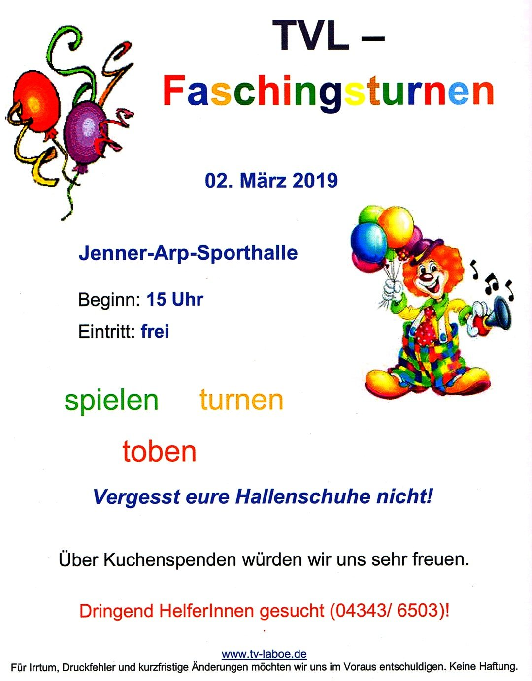Faschingsturnen 2019 TVL