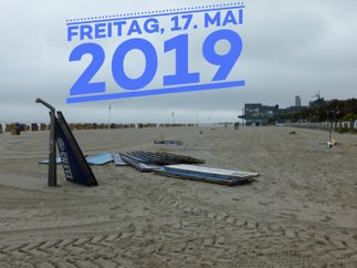 Aufbau FLENS-Beach-Volleyball-Turnier