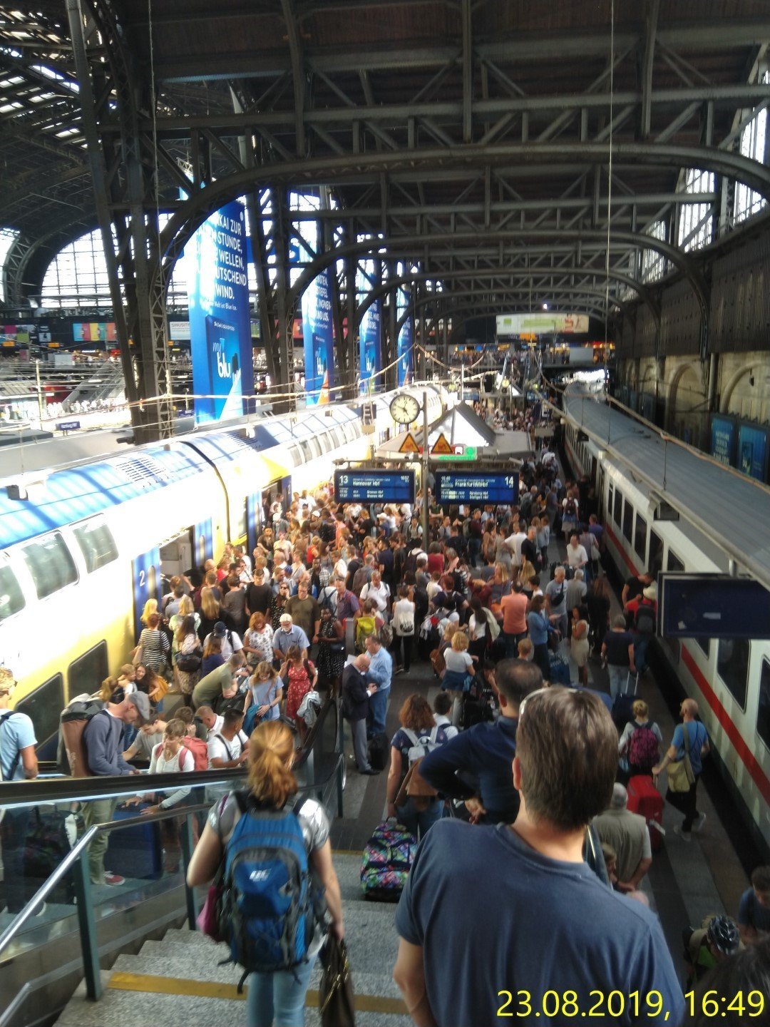 20 August 2019 Hamburg Hbf, das war mal total normal
